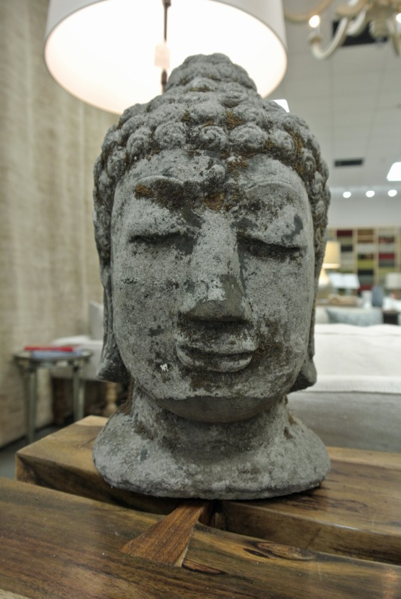 A Buddha sculpture for your yogi, $98.00